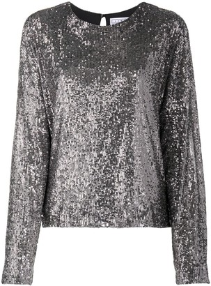In The Mood For Love Long-Sleeve Sequin Top