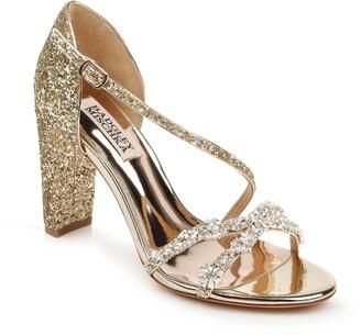 Badgley Mischka Collection Omega Crystal Embellished Sandal