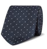 Drakes Drake's - 8cm Polka-Dot Woven Silk Tie