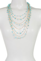 Natasha Accessories Bead & Chain Multi Strand Necklace