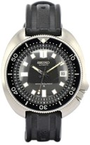 Seiko 2rdDiver 6105-8110 Stainless Steel / Rubber with Black Dial 44mm Mens Watch