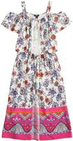 My Michelle Girls 7-16 Floral Walk-Through Cold Shoulder Maxi Romper