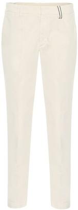 Brunello Cucinelli Cotton straight-leg cigarette pants