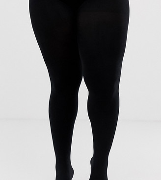 ASOS DESIGN Curve super stretch new improved fit 90 denier black tights