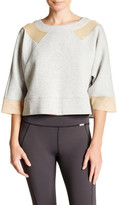 VPL Double Face 3/4 Length Sleeve Knit Sweatshirt