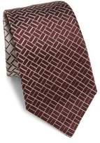 Armani Collezioni Neat Patterned Silk Tie
