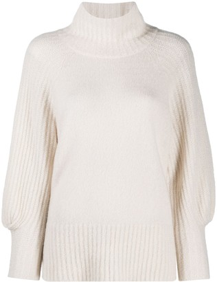 Luisa Cerano Balloon Sleeve Turtleneck Jumper