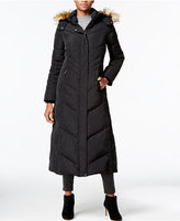 Jones New York Faux-Fur-Trim Hooded Down Maxi Coat