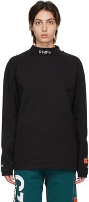 Heron Preston Black Style Mock Neck Long Sleeve T-Shirt