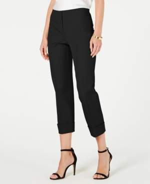 Alfani Petite Cuffed-Hem Ankle Pants, Created for Macy's
