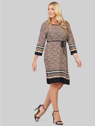 M&Co Izabel Curve geo print shift dress