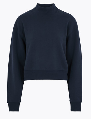 Marks and Spencer Cotton Relaxed Sweatshirt
