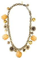 Oscar de la Renta Flower Charm Necklace