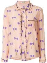 Miu Miu bow print shirt
