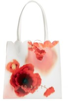 Ted Baker Playful Poppy Small Icon Tote - Red