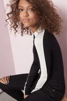 Garage Striped Long Sleeve Mock Neck Top