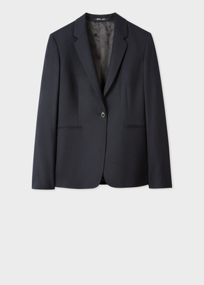 Paul Smith A Suit To Travel In - Women's Navy One-Button Wool Blazer