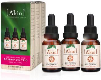 Akin A'Kin Certified Organic Rosehip Oil 20Ml Trio - Limited Edition