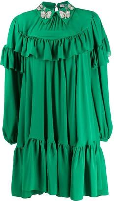 VIVETTA Ruffle Trim Dress