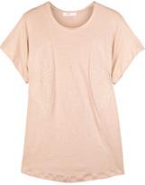 Linen-blend T-shirt