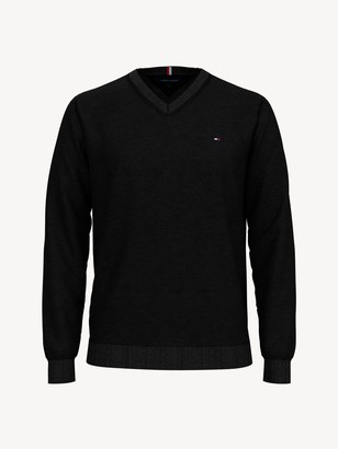 Tommy Hilfiger TH Luxe Merino Wool V-Neck Sweater