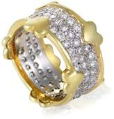 Tiffany & Co. Platinum and 18K Yellow Gold Schlumberger Diamond Pave Band Ring Size 6.0