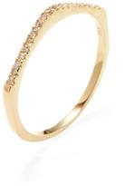 Amrapali Diamond Slope Ring in Gold