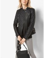 Michael Kors Quilted-Leather Motorcycle Jacket