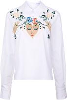 Vivetta White Embroidered Face Crocus Blouse
