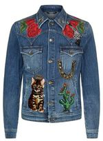Dolce & Gabbana Embellished Western Denim Jacket