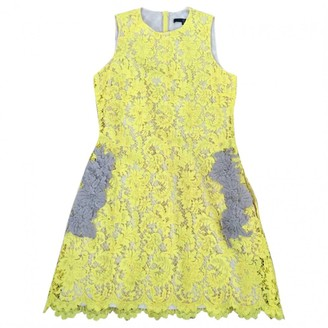 Sly 010 Sly010 Yellow Lace Dress for Women