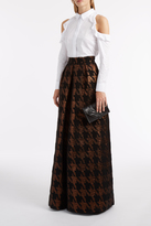 Martin Grant Brocade Long Pleat Skirt