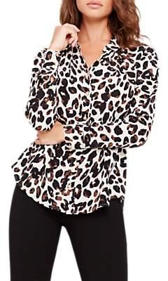 Damsel in a Dress Urban Leopard Blouse, Camel