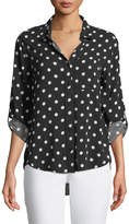 Velvet Heart Elisa Dot-Print Button-Front Blouse