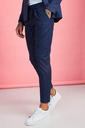 boohoo Pleat Front Plain Smart Trouser
