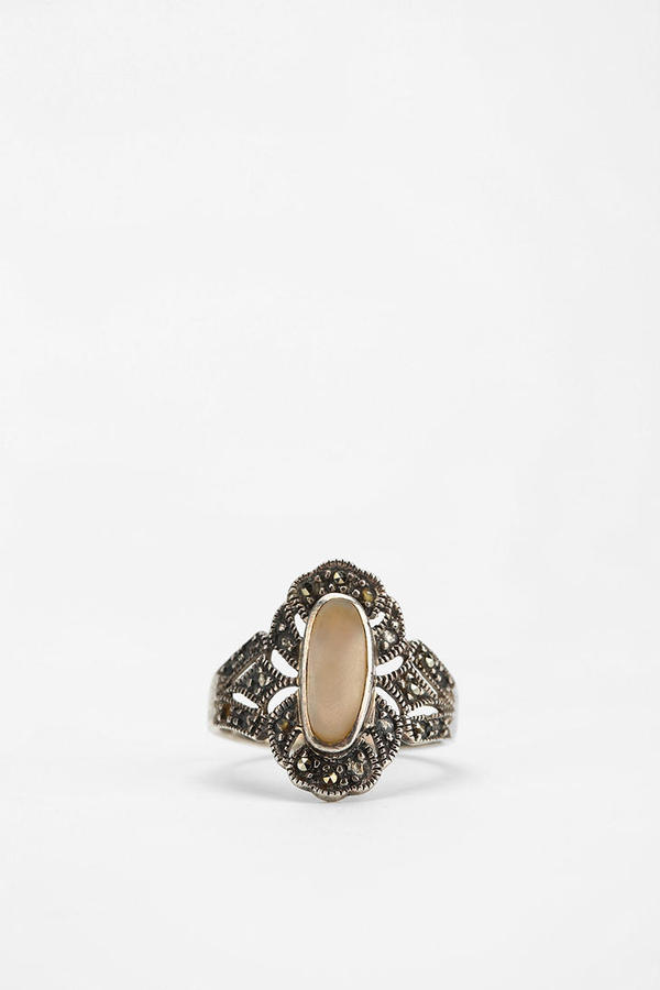 UO Vintage Silver Marcasite Ring