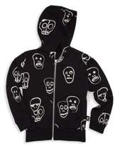 Nununu Boy's & Girl's Zip-Up Cotton Skull Hoodie