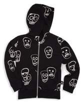 Nununu Boy's & Girl's Zip-Up Skull Hoodie
