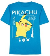 Pokemon Boys' 025 Graphic T-Shirt Blue - L