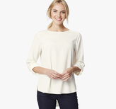 Johnston & Murphy Roll-Sleeve Blouse