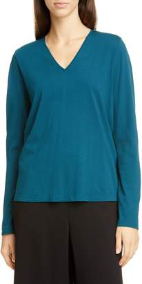 Eileen Fisher Long Sleeve Organic Cotton Top
