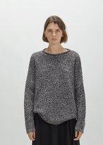 6397 Merino Boucle Sweater Black/White Size: X-Small