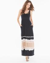 Soma Intimates Soutache Maxi Dress Retreat Border Soft Tan