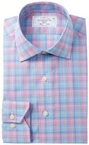 Lorenzo Uomo Multi Check Trim Fit Dress Shirt