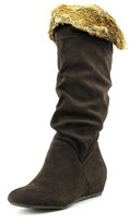 Report Enfield Women Round Toe Canvas Knee High Boot.