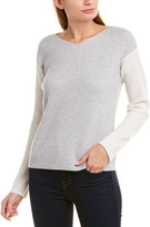 Vince Colorblocked Wool & Cashmere-Blend Sweater