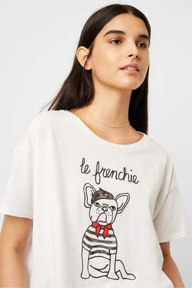 French Connection Le Frenchie Cropped T-shirt
