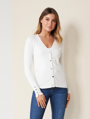 Forever New Mila Button-Up Cardigan - Cream - s