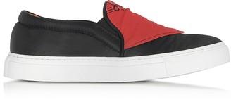 Joshua Sanders Black Nylon Slip On Bandana Sneakers