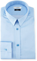 Versace Textured Cotton Dress Shirt, Light Blue